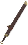 Chinese Medieval Sword with Sheath (Brown)