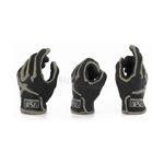 Three hands with Mechanix tactical gloves