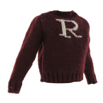 Kid Size Gryffindor Knitted Pattern Sweater (Red)