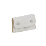 Leather Small Pouch (White)