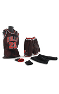 Set tenue de basket de Michael Jordan (Chicago Bulls Away Kit)