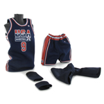 Set tenue de basket de Michael Jordan (USA Team Away Kit)