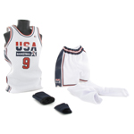 Set tenue de basket de Michael Jordan (USA Team Home Kit)