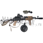 AKM w/ drum mag and scope