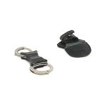 Menottes rigides TCH Dual Key en métal avec étui (Argent)