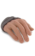 Flexible Caucasian Male Right Hand with Strap