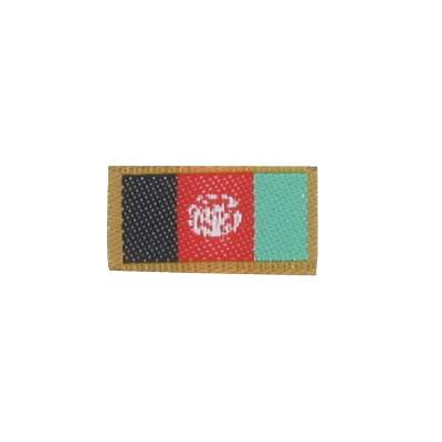 Patch drapeau Afghanistan (Rouge)