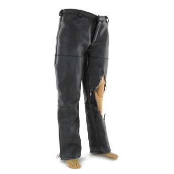 Pantalon en cuir Battle Damaged