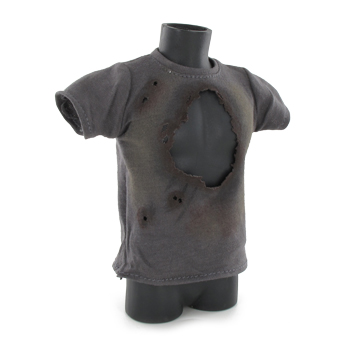 T-shirt Battle Damaged (Gris)
