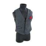 Gilet de costume à rayures (Noir)