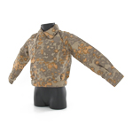 Plane tree reversible camo field jacket
