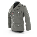 Elite Officer Earth grey Gabardine Jacket