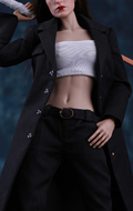 Gangster Girl Agent Uniform Set (Black)