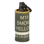 Grenade M18 fumigène jaune (Olive Drab)