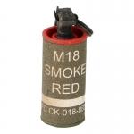 Grenade fumigène M18 rouge (Olive Drab)