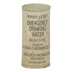 Cannette d'eau Emergency Drinking Water usée (Kaki)