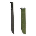Ontario Sawback Machete with Heavy Duty Scabbard (Black)