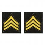 Chevrons Sergent US Army (Jaune)