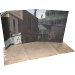Box with Mogadiscio part of town first floor Diorama Background