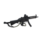 HK MP5 Submachinegun with Tri-Rail Forend Rail System - Surefire M63 (Black)