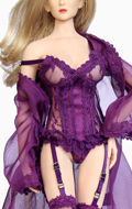 Female Sexy Clothes Set (Purple)