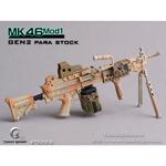 Mitrailleuse MK46 MOD1 désert crosse rétractable