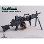 Mitrailleuse MK46 MOD1 noire crosse rétractable