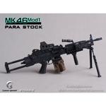 Mitrailleuse MK46 MOD1 noire crosse tubulaire rétractable