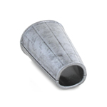 Protection d'avant bras en métal (Gris)