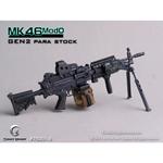 Mitrailleuse MK46 MOD0 crosse Para rétractable (Noir)