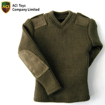 V Neck Sweater (OD Green)