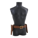 Belt with Double Holsters (Brown)