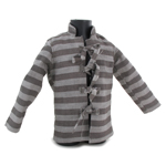 Striped Prisoner Shirt (Grey)