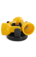 Light Up 3 Spots Roof Lamp (Yellow)