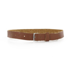 Leather belt with roller buckle