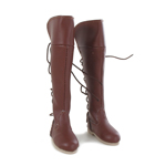 Female Leather Boots (Brown)