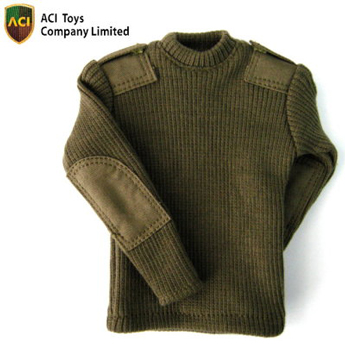 Round Neck Sweater (Olive Drab)