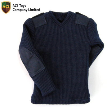 V Neck Sweater (Navy Blue)