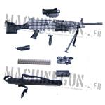 Mitrailleuse SAW M249 avec accessoires