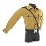 Brown shirt with officer equipment belt