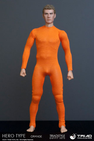 Spandex Hero Type Homme (Orange)