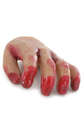 Caucasian Male Bloody Left Hand