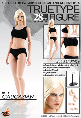 True Type Figure - Caucasian Female Body