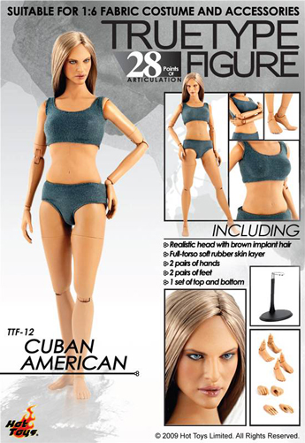 True Type Figure - Cuban American Female Body