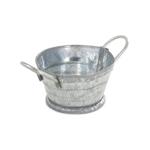 Petite bassine en métal (Argent)