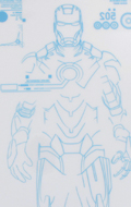 Iron Man 2 - Mark IV Stickers with Holographic-like Effect