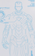 Iron Man 2 - Mark VI Stickers with Holographic-like Effect