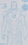 Iron Man 2 - Mark VII Stickers with Holographic-like Effect