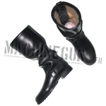 Soviet black leather boots
