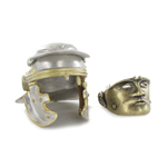 Die Cast Imperial Gallic Model I Helmet with Vexillifer Mask (Silver)
